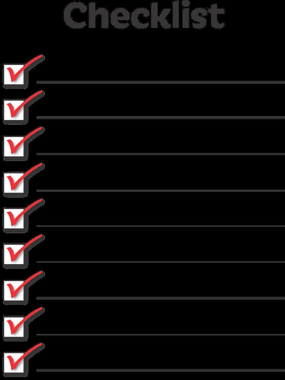 Checklist for Evaluating a Potential Niche