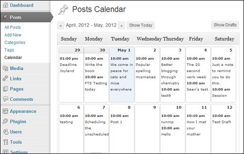 Editorial Calendar - Editorial Plugin For WordPress