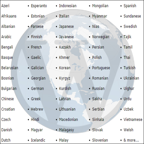 WordPress language translations